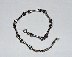 Vintage sterling silver bone bracelet stamped by RetroRecyclables, $32.00