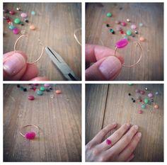 Bagues d'été très rapides à faire ! De nouveau avec des perles et du fil de laiton, si vous avez une minute de disponible pas plus, c'est pour vous !