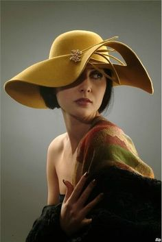 16 - We offer your hat designs to your liking - 1 ladies hats prepared for women with different designs are presented to your liking . Fancy Hats, Cool Hats, Church Hats, Wearing A Hat, Love Hat, Fashion Mode, Felt Hat, Derby Hats, Western Style