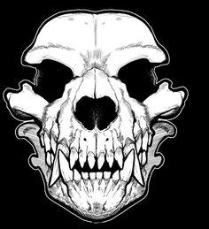Dog Skull, Skull Art, Skull Design, Dog Design, Wolf Eyes, Skull Tattoos, Animal Skulls, Dark Fantasy Art, Character Design Inspiration