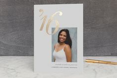 Shining Year Foil-Pressed Graduation Announcements