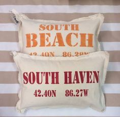 Beach pillows by Marshes, Fields, and Hills
