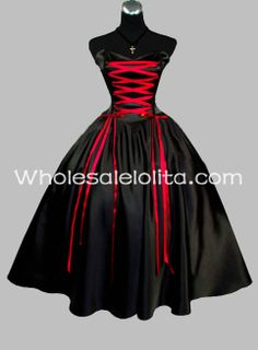 Red Gothic Prom Dress