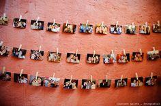 Decor mini wedding Casamento Coisas fofas Varal de fotos