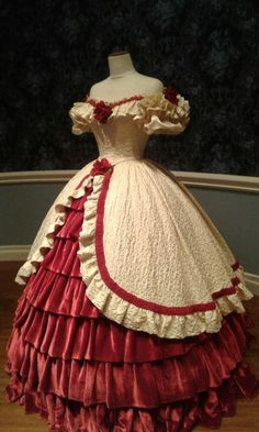This is the Rose dress that my friend and I saw at a civil war museum