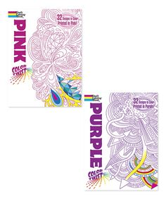 Look at this #zulilyfind! Purple & Pink Colortwist Coloring Book Set by Dover Publications #zulilyfinds
