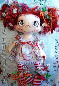 Кукла домовушка-желанница Катеринка - кукла,текстильная кукла,купить куклу Sock Dolls, Doll Toys, Kawaii Doll, Primitive Folk Art, Diy Doll, Fabric Dolls, Doll Face, Handmade Art, Beautiful Dolls