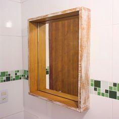 VÍDEO ensinando a fazer Espelho + patina  Reforma de um banheiro completo, ensinado a fazer todos os móveis!! ❤ www.youtube.com/diycore