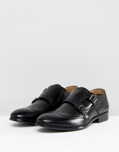 Red Tape Monk Shoes In Black - Black