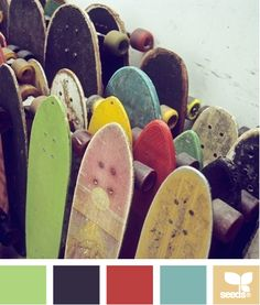 color board -- Love everything about this! He loves skate boards and I feel like the colors suit my little man.