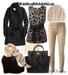 Kočka v béžovo-čiernom outfite - KAMzaKRÁSOU.sk #lookoftheday #outfitoftheday #stylish