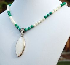 Mother of Pearl Azurite Malachite & by ExoticTreasuresJewel, $88.00