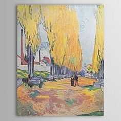 Famous Oil Painting Les-alychamps-autumn by Van Gogh - WallArtBox