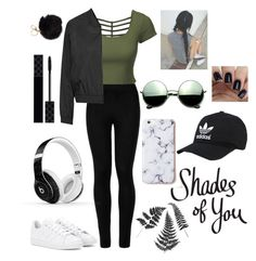 """~Shades Of You~"" by savvy-monet on Polyvore featuring LE3NO, Wolford, adidas, Revo, Topshop, Beats by Dr. Dre and Gucci"