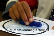 Never thought of this, but crayon rubbings are a way to reinforce tripod grasp - Re-pinned by @PediaStaff – Please Visit http://ht.ly/63sNt for all our pediatric therapy pins