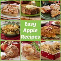 Our collection of Easy Apple Recipes has plenty ideas for what to make with apples, from apple pie to savory apple recipes to apple cookies, and more! Apple Recipes Easy, Pear Recipes, Fruit Recipes, Sweet Recipes, Cooking Recipes, Amish Recipes, Dessert Recipes, Dinner Recipes, Livres