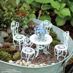 Miniature fairy garden Image by: Romppala - Lindan pihalla - Linda Peltola
