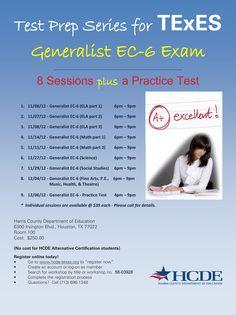 Get ready for the Generalist teacher certification exam with HCDE… Texas Education, Teacher Certification, Becoming A Teacher, Exam Study, Test Prep, Elementary Teacher, College Students, Certificate, Prepping