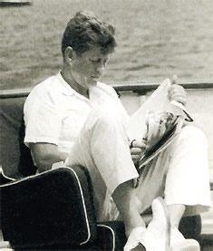 Jack Kennedy on the Honey Fitz