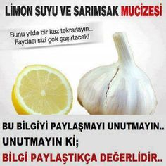 Tek Adresiniz: Limon Suyu ve Sarımsak Mucizesi Your Only Address: The Miracle of Lemon Juice and Garlic Healthy Beauty, Health And Beauty, Healthy Life, Health And Wellness, Health Fitness, Spa Water, Homemade Skin Care, Alternative Medicine, Diet And Nutrition