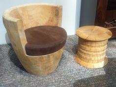 Poltroncina legno massello di Riva 1920