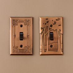 Frank Lloyd Wright | Landscape Copper Switchplate, Single