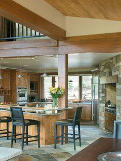 Finest Mountain House Design Interior Kitchen Design: Kitchen Best Mountain Home Design Interior Kitchen Design