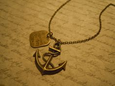 I want this - beautiful 'dreaming of the sea' necklace with anchor. #fashion #style