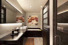 Amazing Dark Brown Bathroom Design Wallpapers And Images Wallpapers With Brown Bathroom