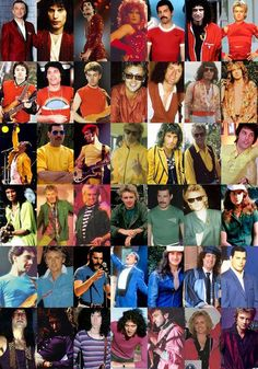 Queen - In Color!!!!! I don't think  Freddie wore violet.... ROYGBV
