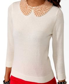 Pearlescent Collar Sweater