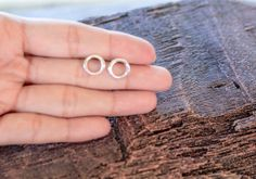 Silver Circle Earrings Sterling Silver Circle by karlasdesign, $15.00