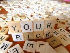 Individual Scrabble Tiles, .20 a piece, You pick the scrabble piece!  A B C D E F G H I J K L M N O P Q R S T U V W X Y Z