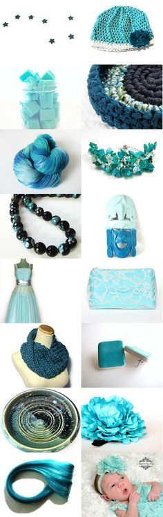 Aqua Delight by Krysthle Poitras on Etsy--Pinned with TreasuryPin.com