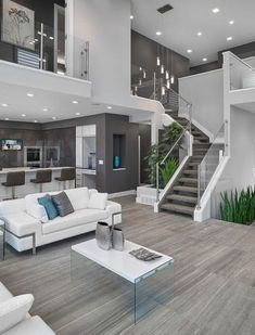 Best Contemporary Living Room Designs - Living Room - Info Virals - New Fashion and Home Design around the World Home Interior Design, House Styles, Room Design, House Interior, House Rooms, Modern House Design, Home, Modern House, Grey Kitchen Walls