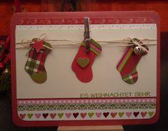 Weihnachten, Karte, Strumpf