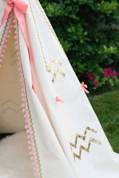 Pink and Gold Pawleys Island Posh: TeePee Project: Part 1 Inspiration