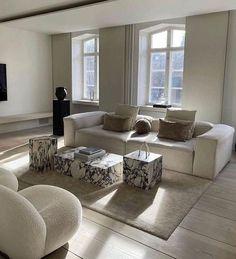 neutral colour scheme living room furniture decor ideas Room Design Bedroom, Home Decor Bedroom, Home Living Room, Living Room Designs, Living Room Decor, Living Spaces, Piece A Vivre, Dream Home Design, Home And Deco