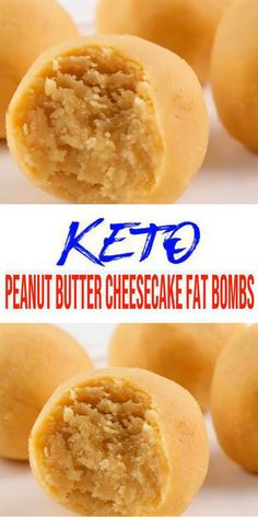 Simple ingredient low carb peanut butter cheesecake fat bomb everyone loves. Mix up a few ingredients for this NO BAKE keto recipes - light, Keto Desserts, Keto Dessert Easy, Keto Snacks, Dessert Recipes, Candy Recipes, Lunch Recipes, Peanut Butter Fat Bombs, Low Carb Peanut Butter, Peanut Butter Cheesecake