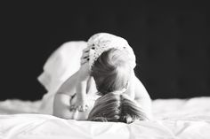 Baby and Mom Photography--Black and White