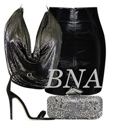 """BNA"" by deborahsauveur ❤ liked on Polyvore featuring Blumarine, Jimmy Choo, Stephen Burrows and Baldwin"