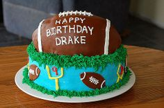 Birthday Touchdown: This football is a champion of cakes.  Source: Flickr User Samdogs