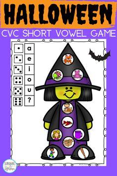 Short Vowel Games, Short Vowel Activities, Short Vowels, Alphabet Activities, Educational Activities, Phonemic Awareness Activities, Short Vowel Sounds, Phonics Games, English Language Learners