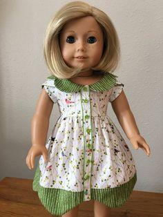 Bluebelle Dress for 18 American Girl Doll by DressingDollsBoutiqu