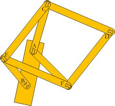 how to make a Peaucellier linkage out of paper
