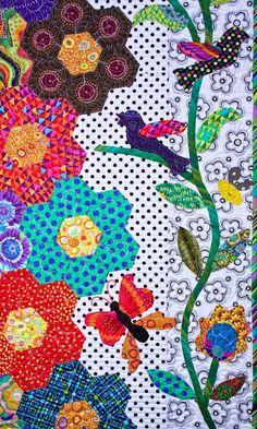 Honey Flow quilt by Kerry Stitch Designs.