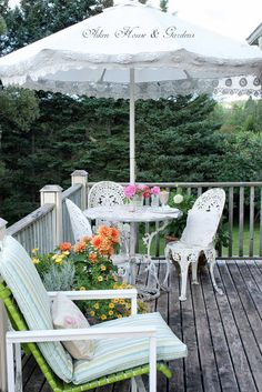 Beautiful deck and balcony views by Aiken House & Gardens