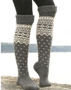 cozy knee high socks