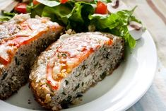 Breakfast:  recipe for basicallly a veggie meatloaf with cheese and tomato melted on top
