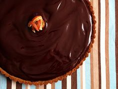 Chocolate orange tart.  #chocolate #orange #tart #yummy